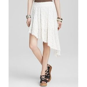 Free People Tea Party Smocked Lace Skirt XS